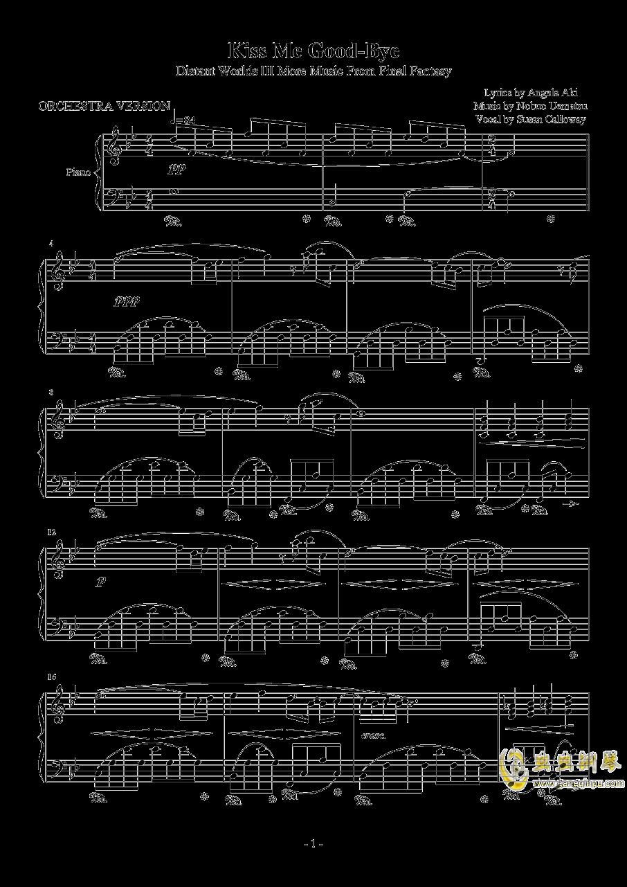 Kiss Me Good-bye钢琴谱 第1页