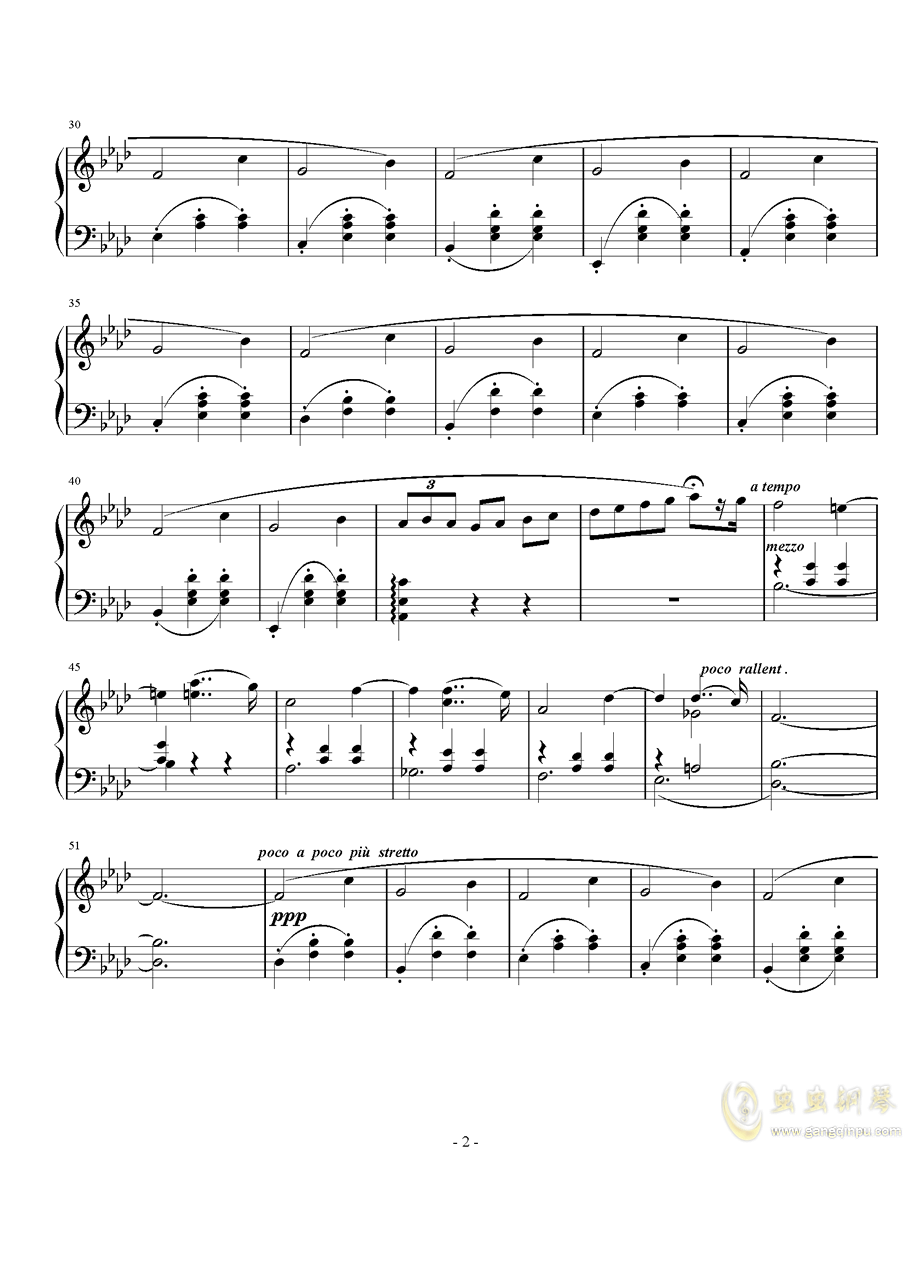 滑稽钢琴谱 第2页