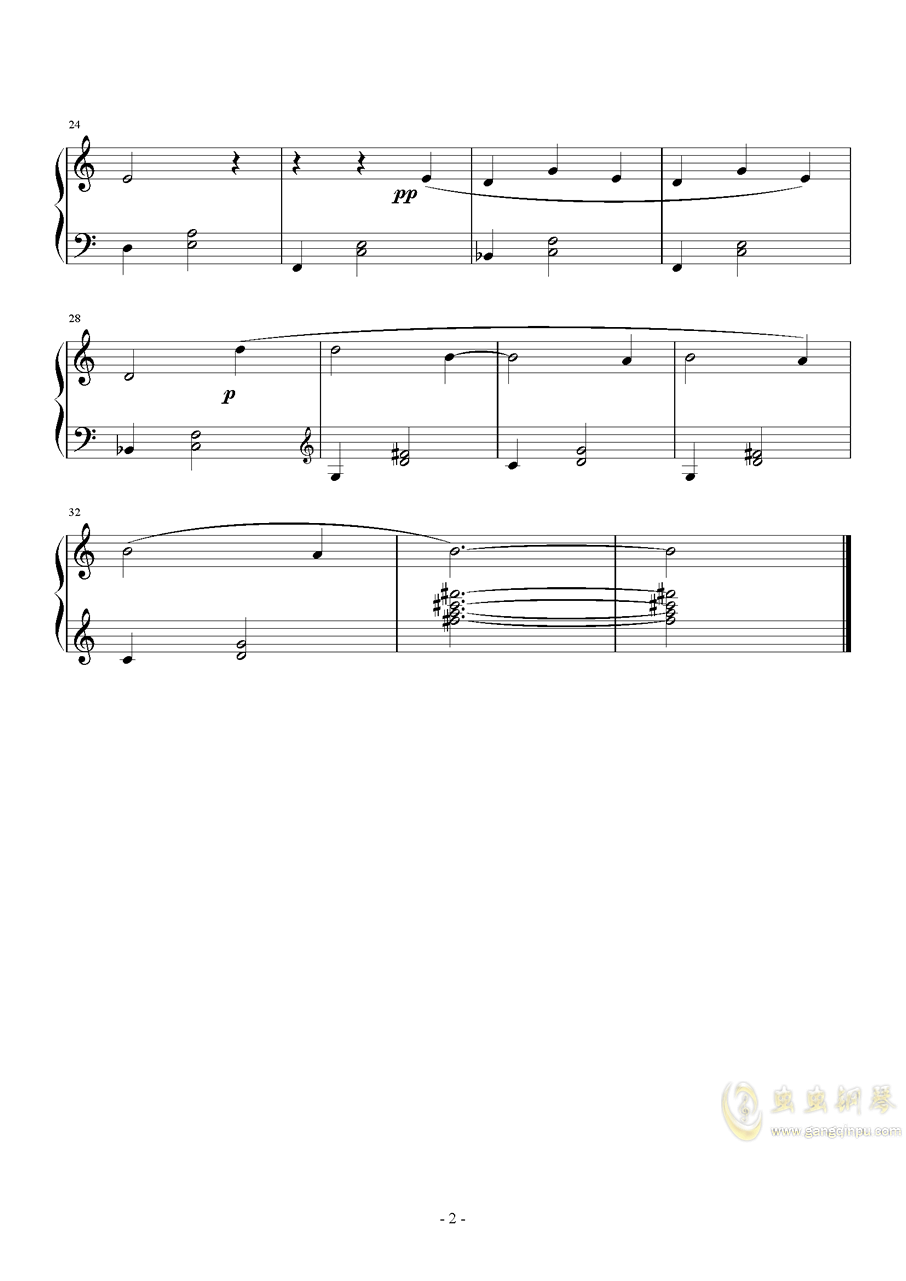 萨蒂钢琴谱 第2页