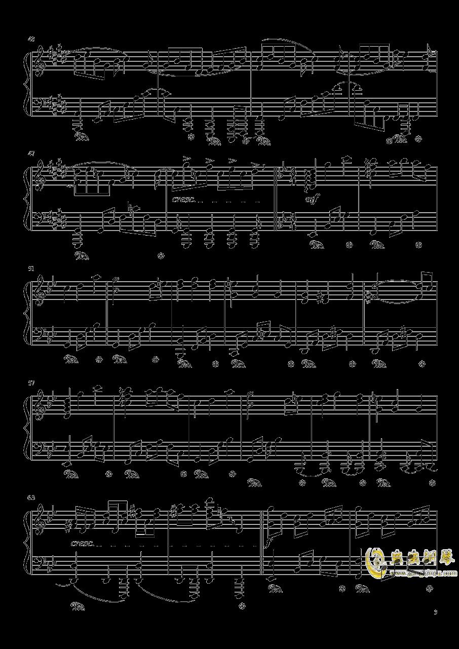暗�の�L穴钢琴谱 第3页