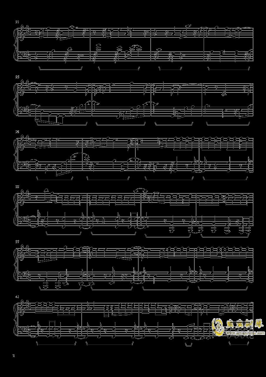 恋与制作人BGM棋逢对手钢琴谱 第2页