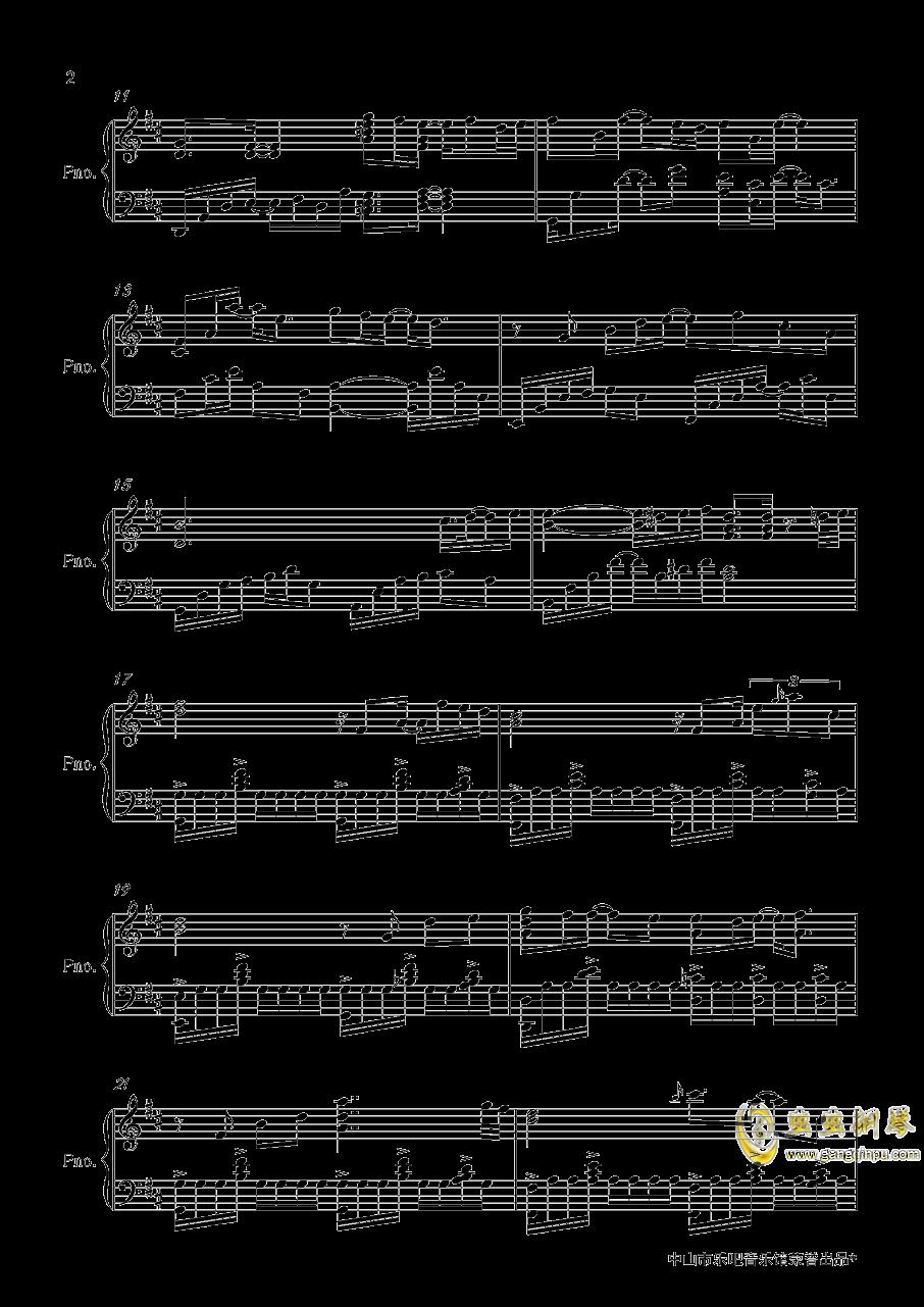 棋逢对手钢琴谱 第2页
