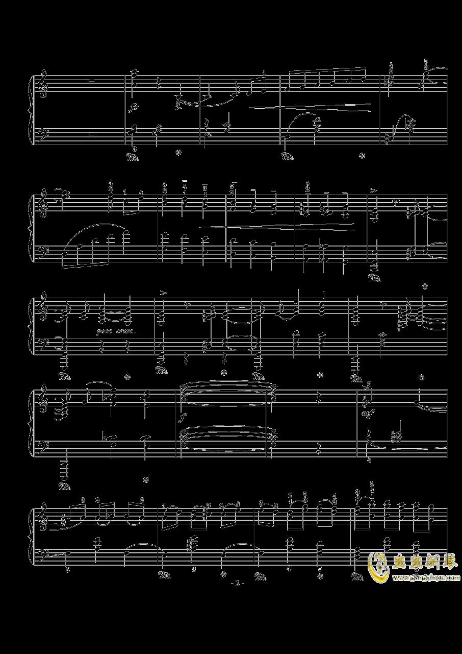 骑士风格圆舞曲钢琴谱 第2页