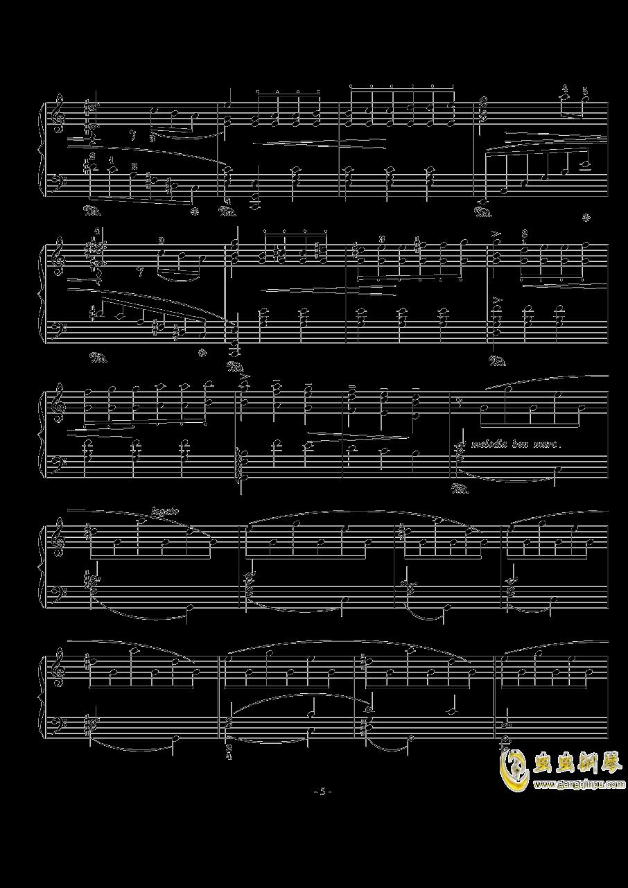 骑士风格圆舞曲钢琴谱 第5页