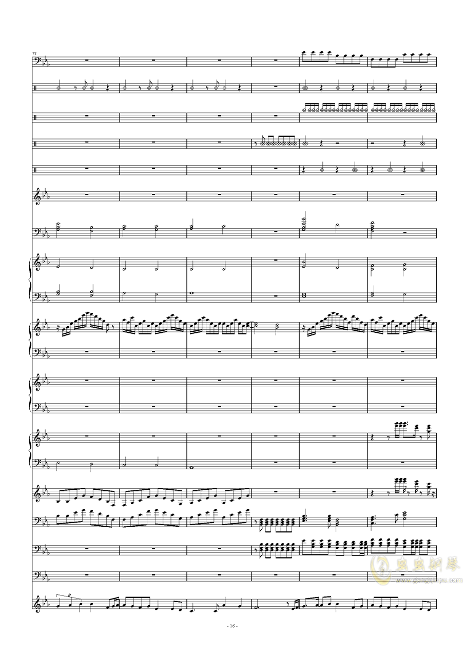 碧绿色的兔子钢琴谱 第16页