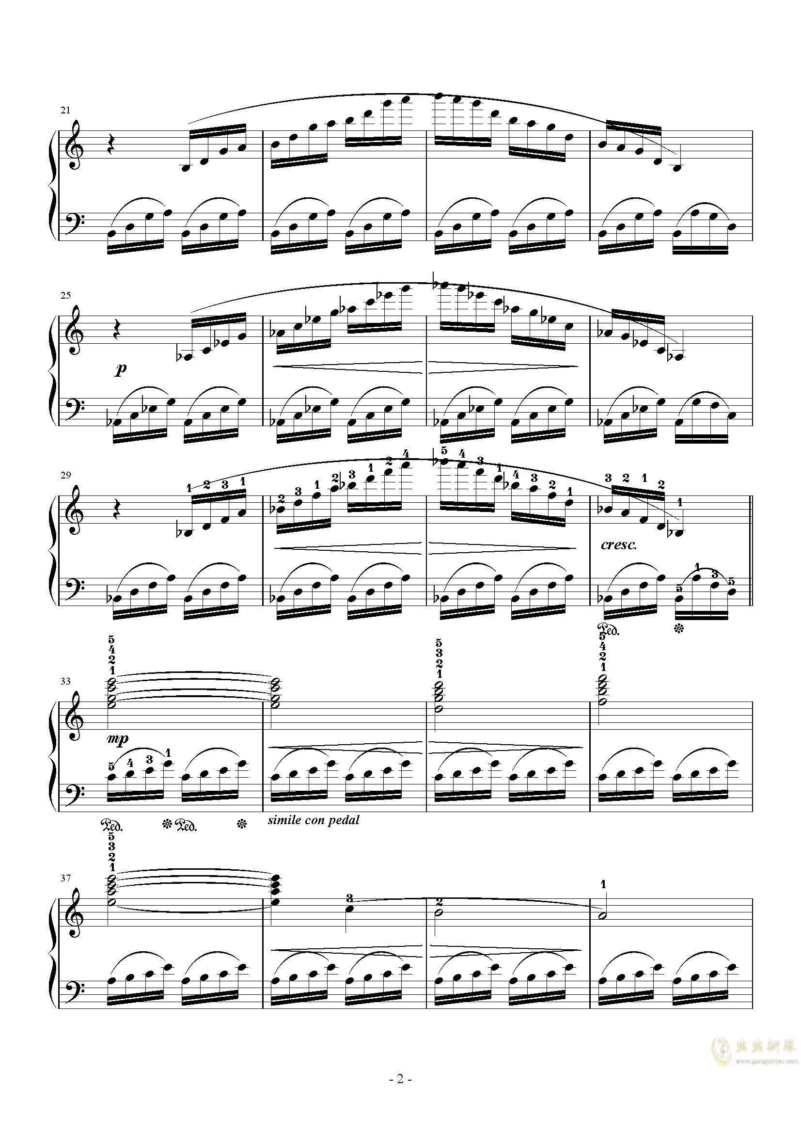 Prelude钢琴谱 第2页