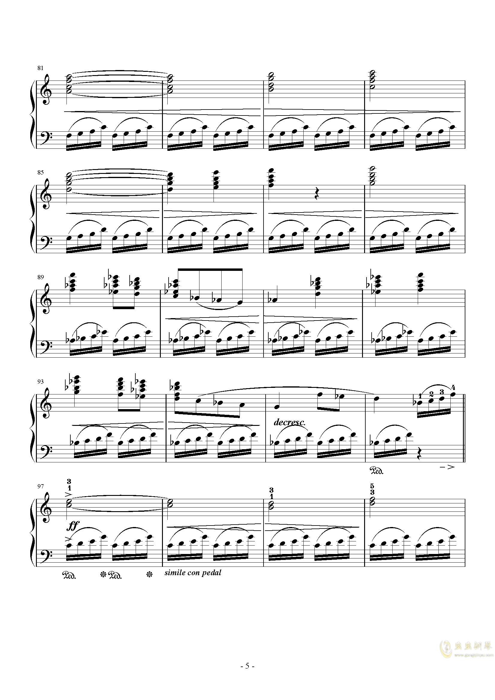 Prelude钢琴谱 第5页
