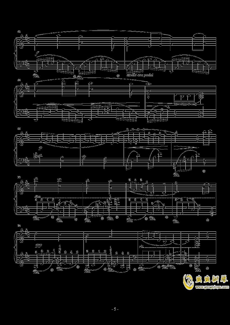 Dear Friends(交响乐版)钢琴谱 第5页