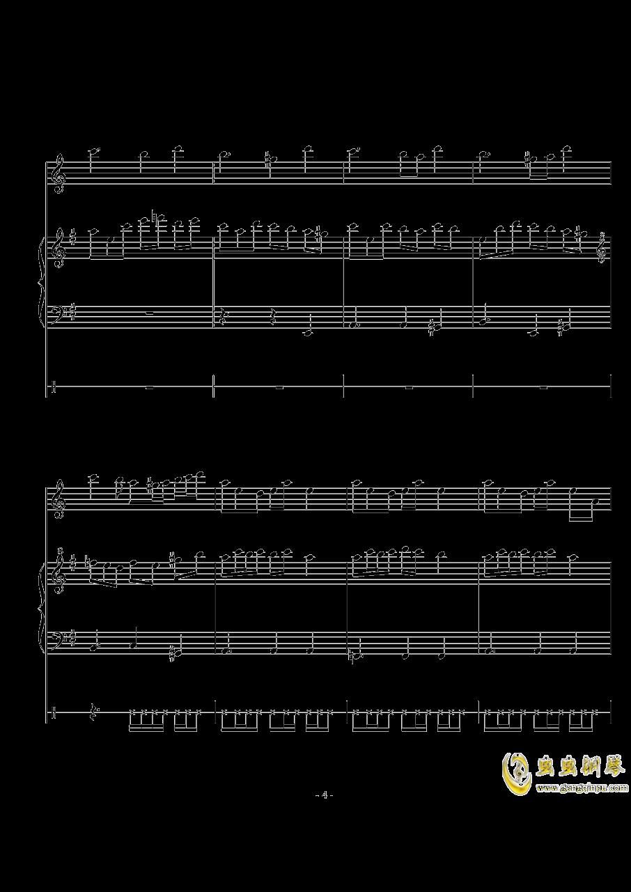 The Mirror Lied钢琴谱 第4页