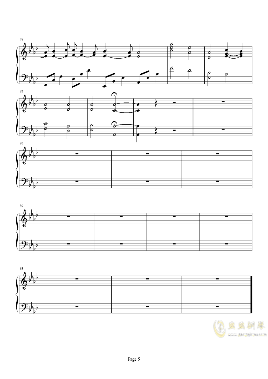 Beyond The Memory钢琴谱 第5页