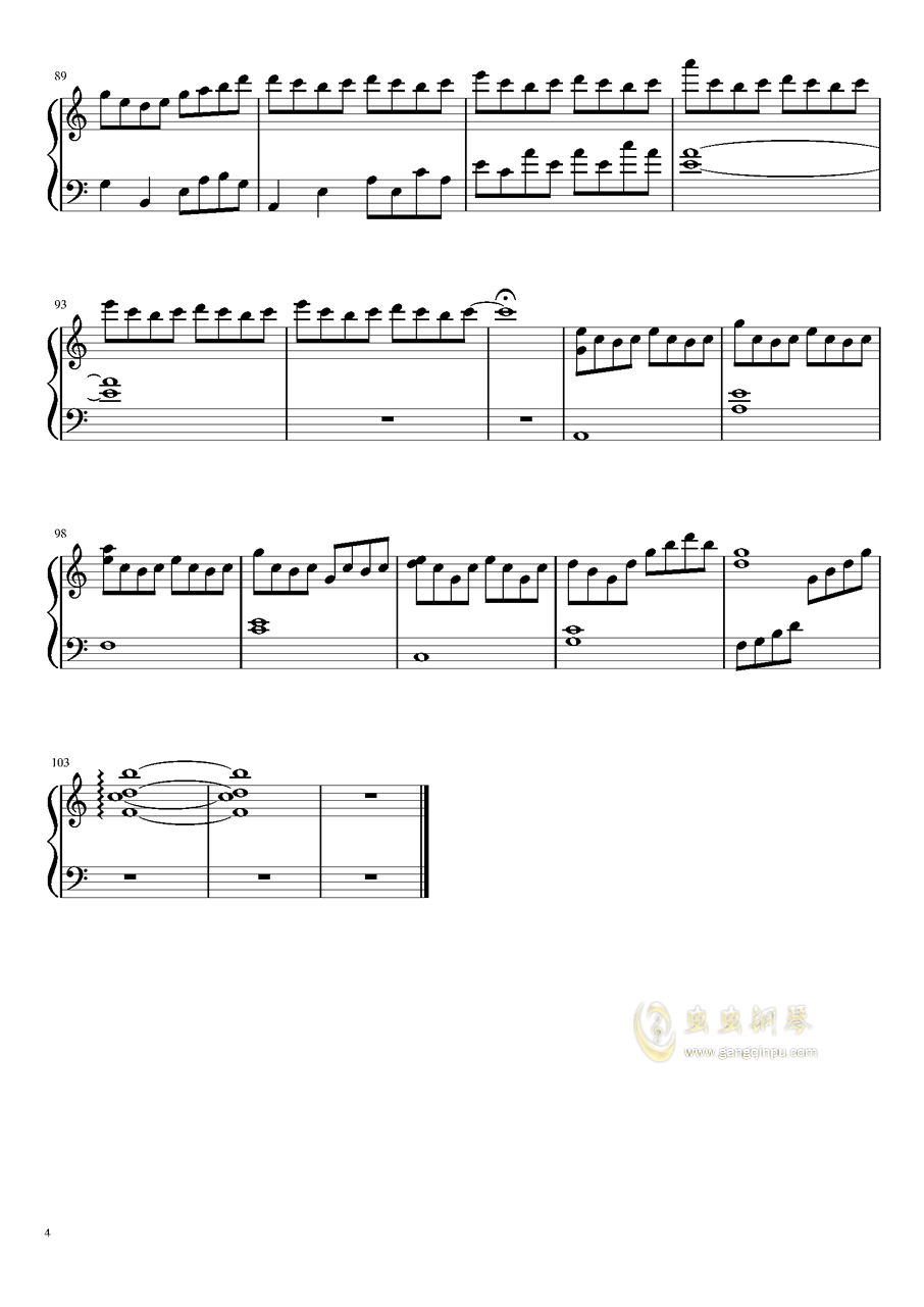 仍在凋零钢琴谱 第4页