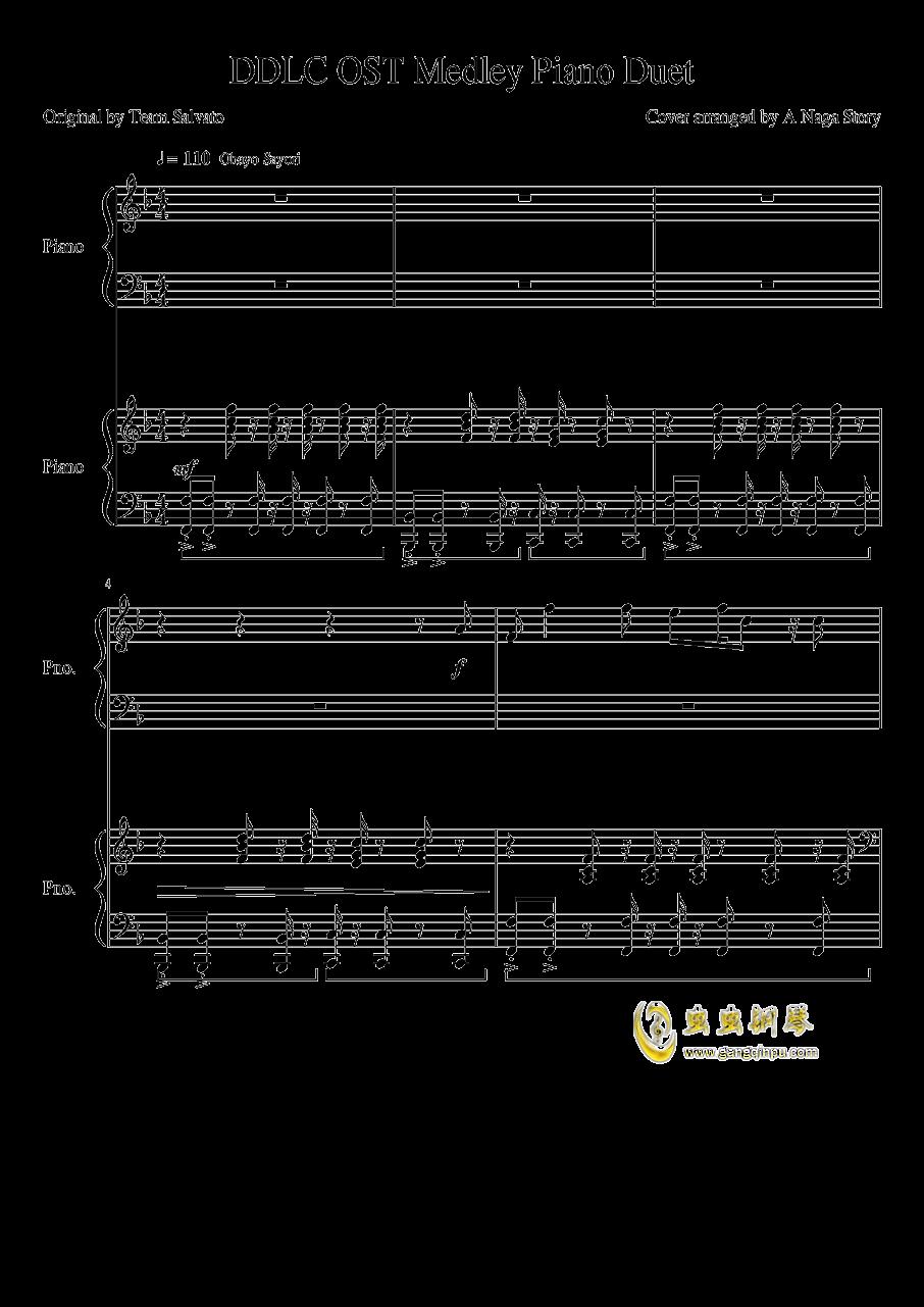 心跳文学部钢琴谱合集钢琴谱 第1页