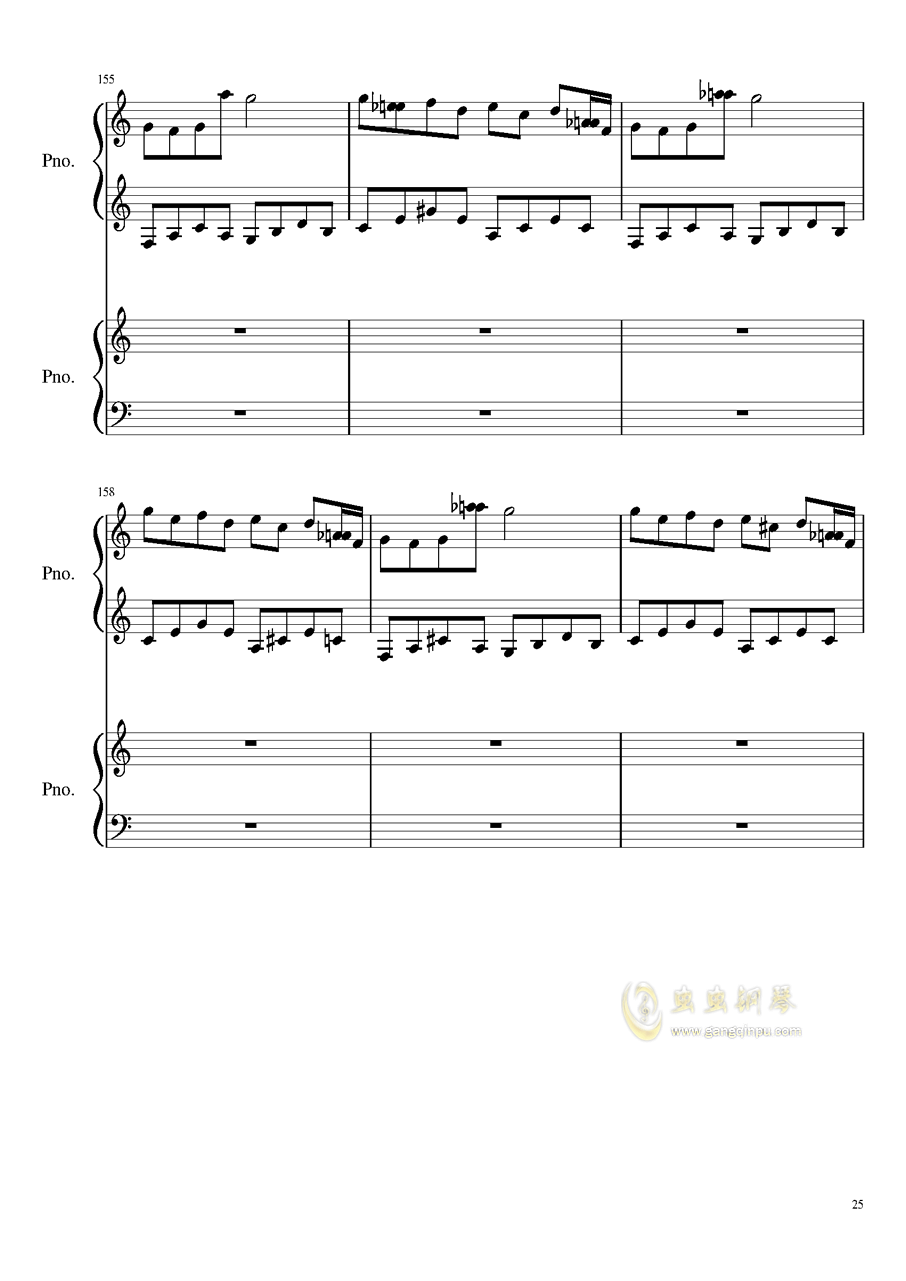 心跳文学部钢琴谱合集钢琴谱 第25页