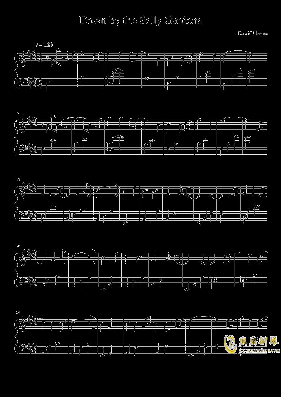 莎莉花园钢琴谱 第1页