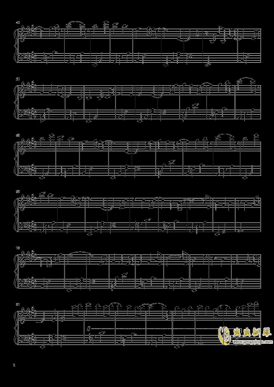 莎莉花园钢琴谱 第2页