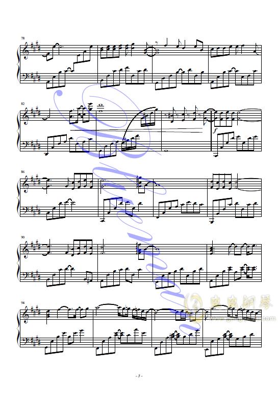 悲伤的天使钢琴谱 第5页