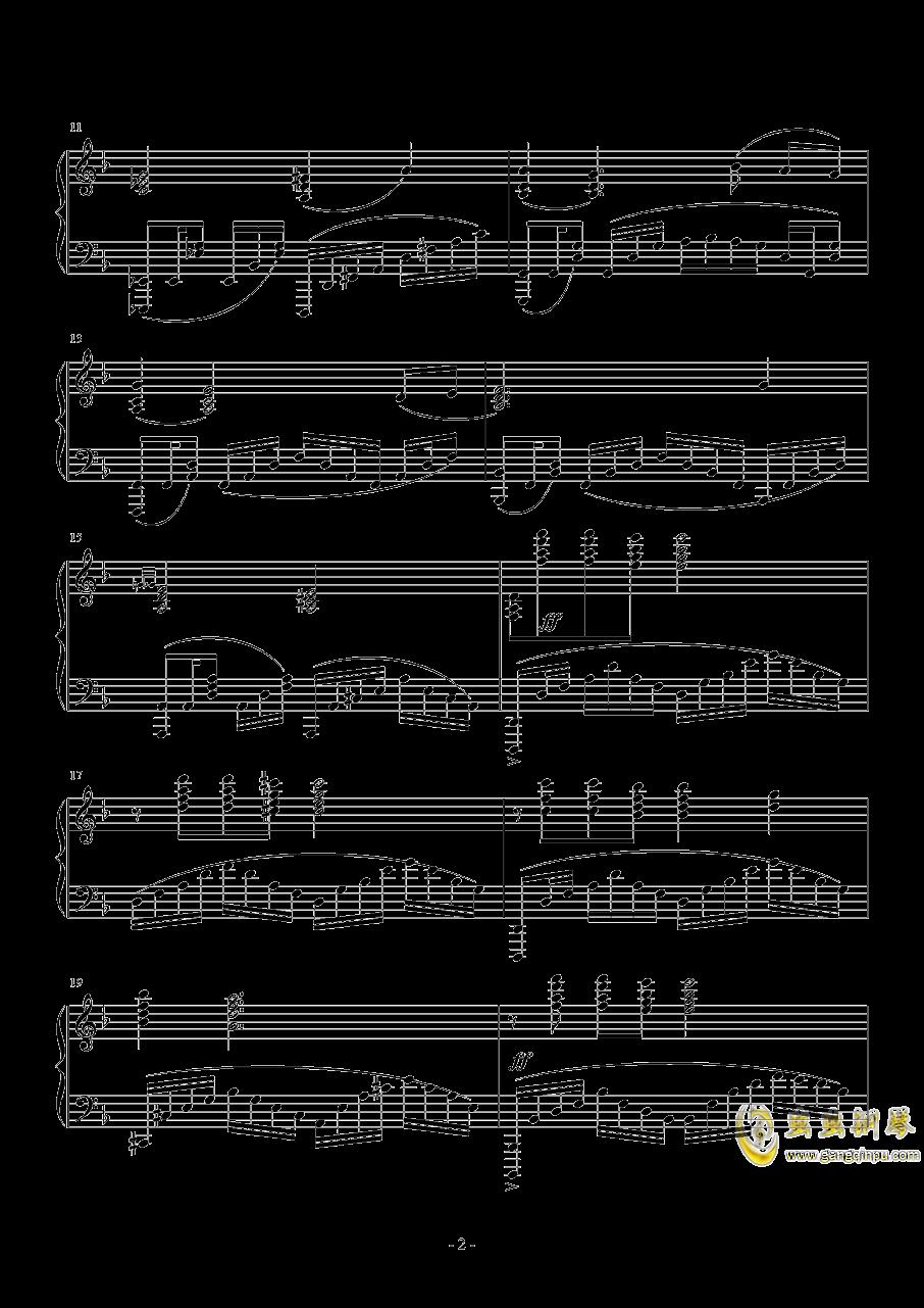 美シキ歌钢琴谱 第2页