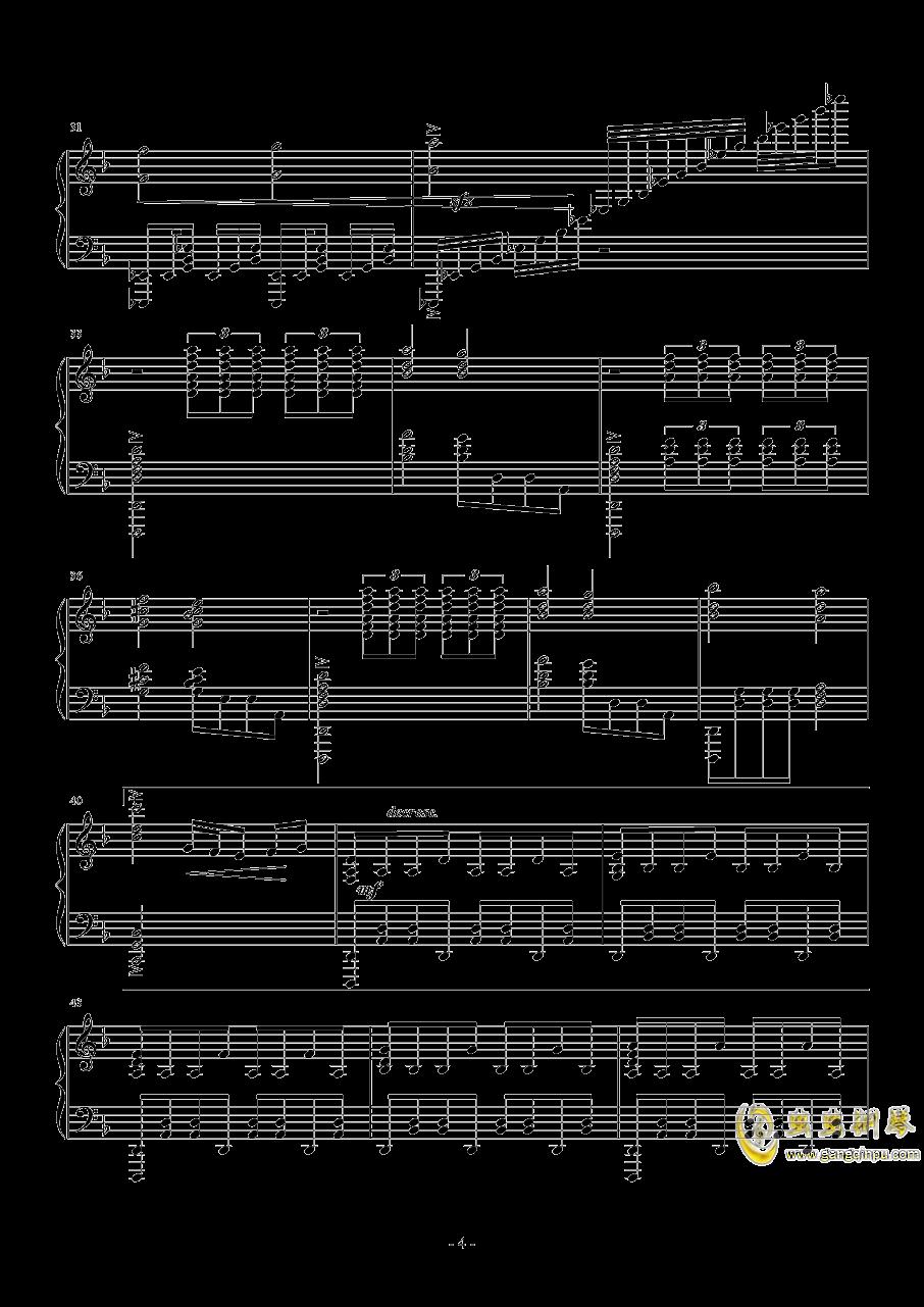 美シキ歌钢琴谱 第4页