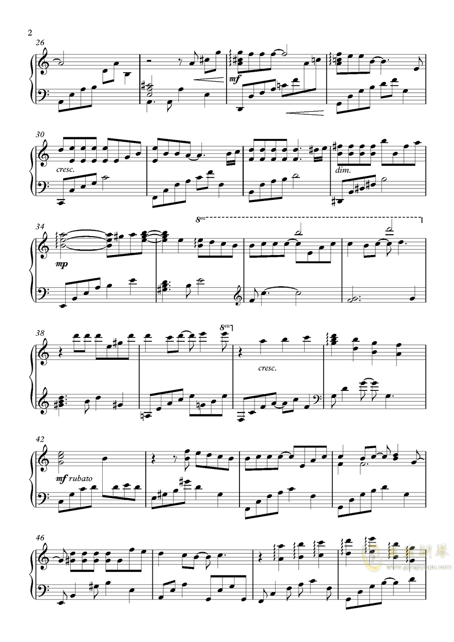 恋与制作人OST钢琴谱 第2页
