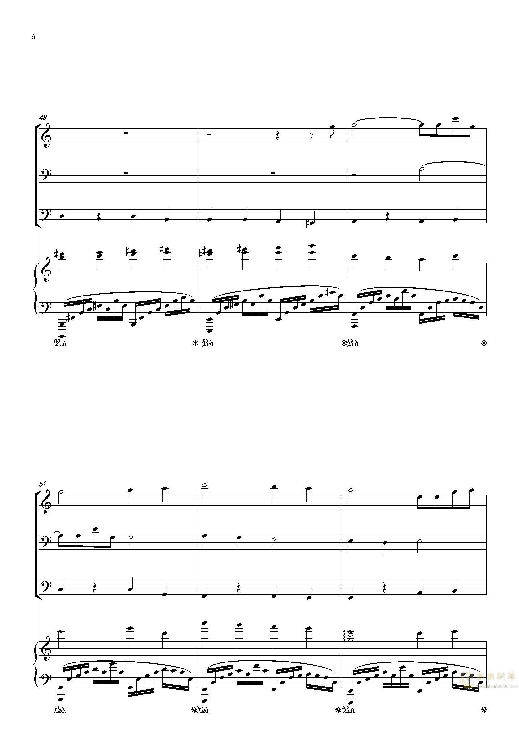 零落钢琴谱 第6页