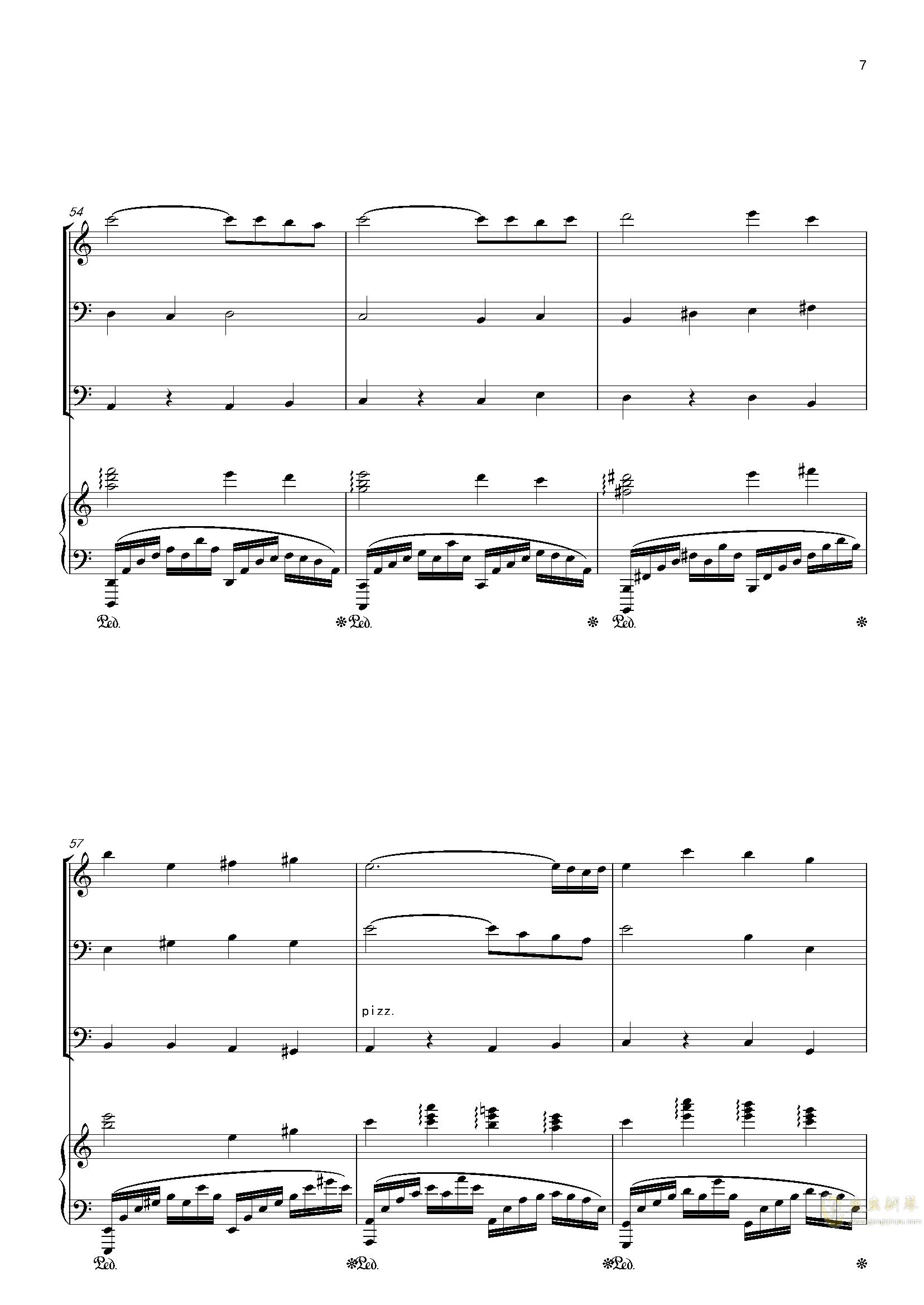 零落钢琴谱 第7页