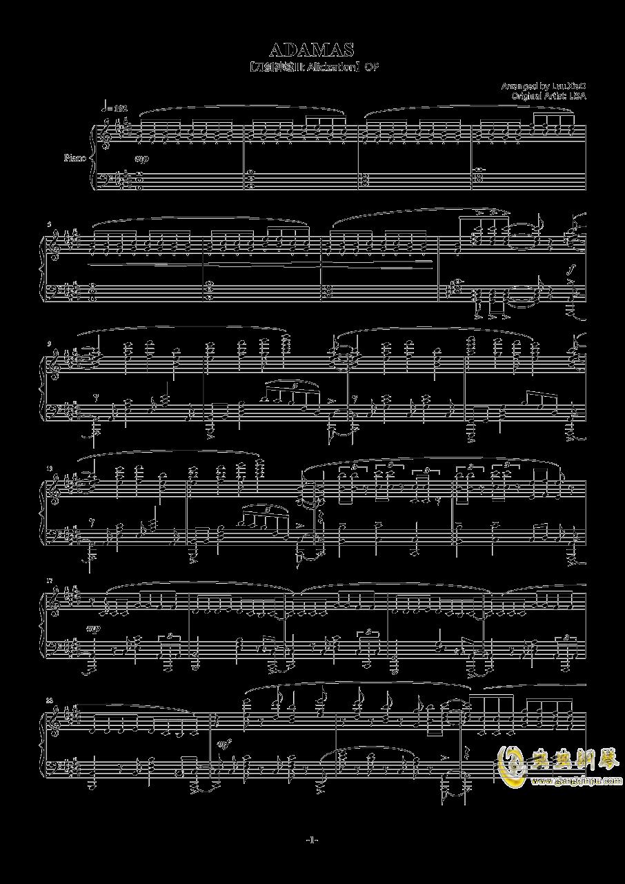 OP ADAMAS钢琴谱 第1页