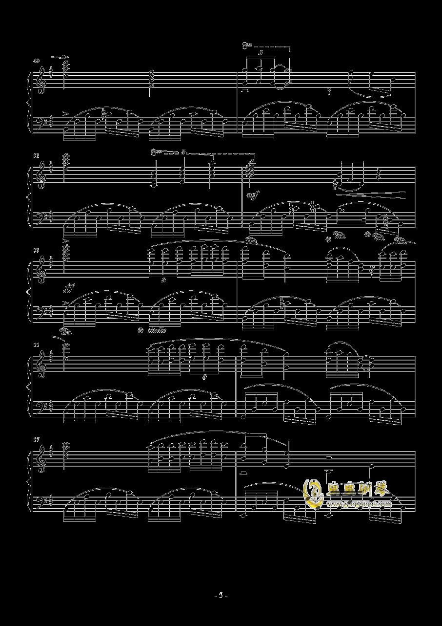 星空钢琴谱 第5页