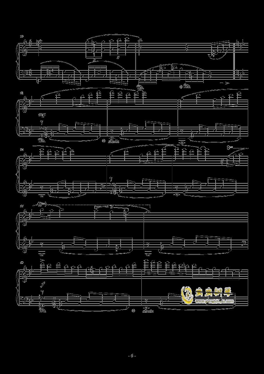 星空钢琴谱 第6页
