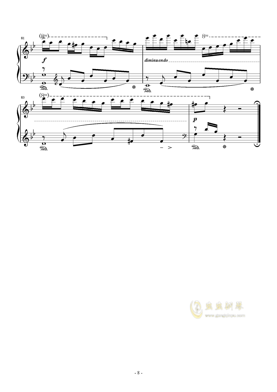星空钢琴谱 第8页