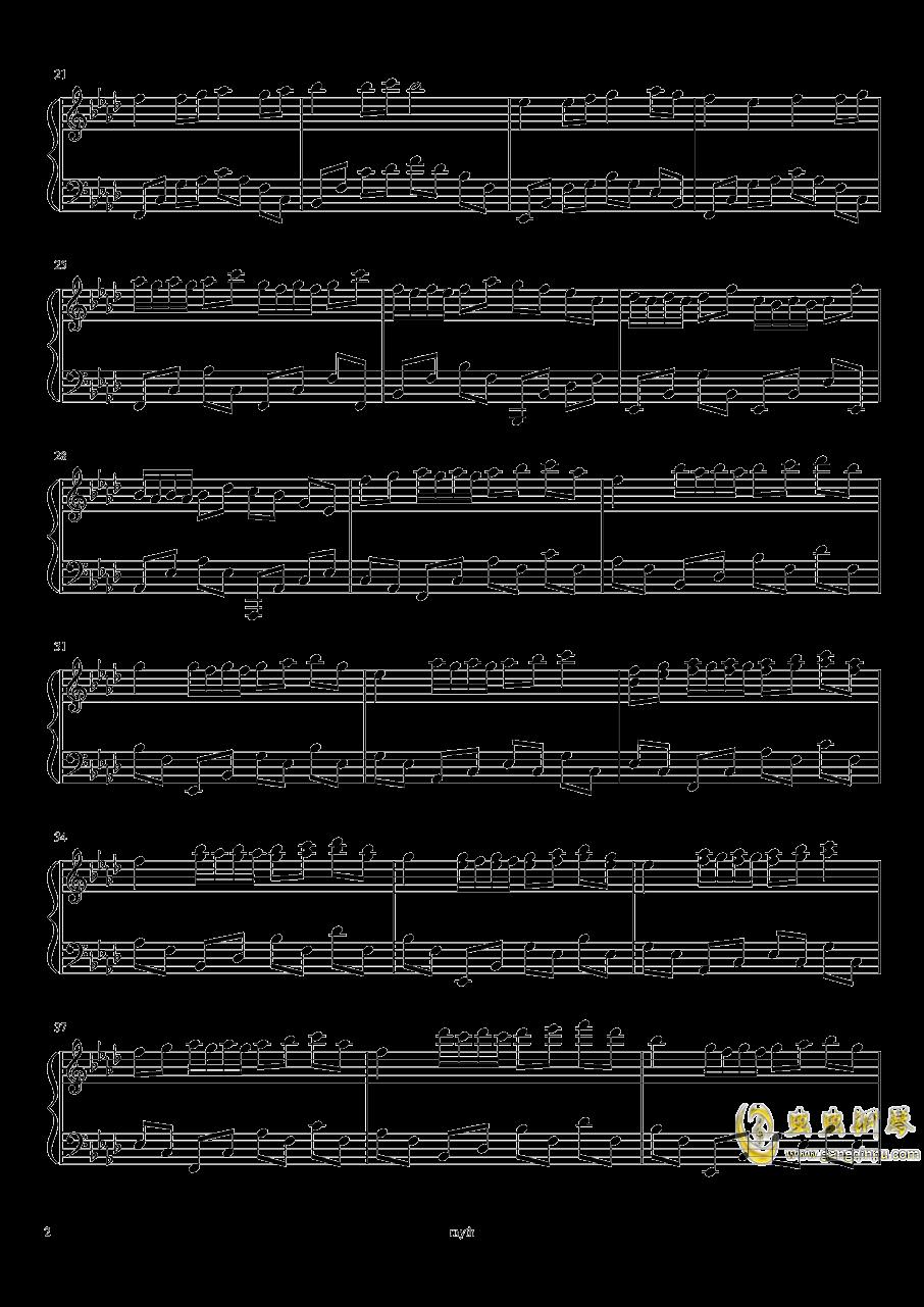 凌乱的回忆钢琴谱 第2页
