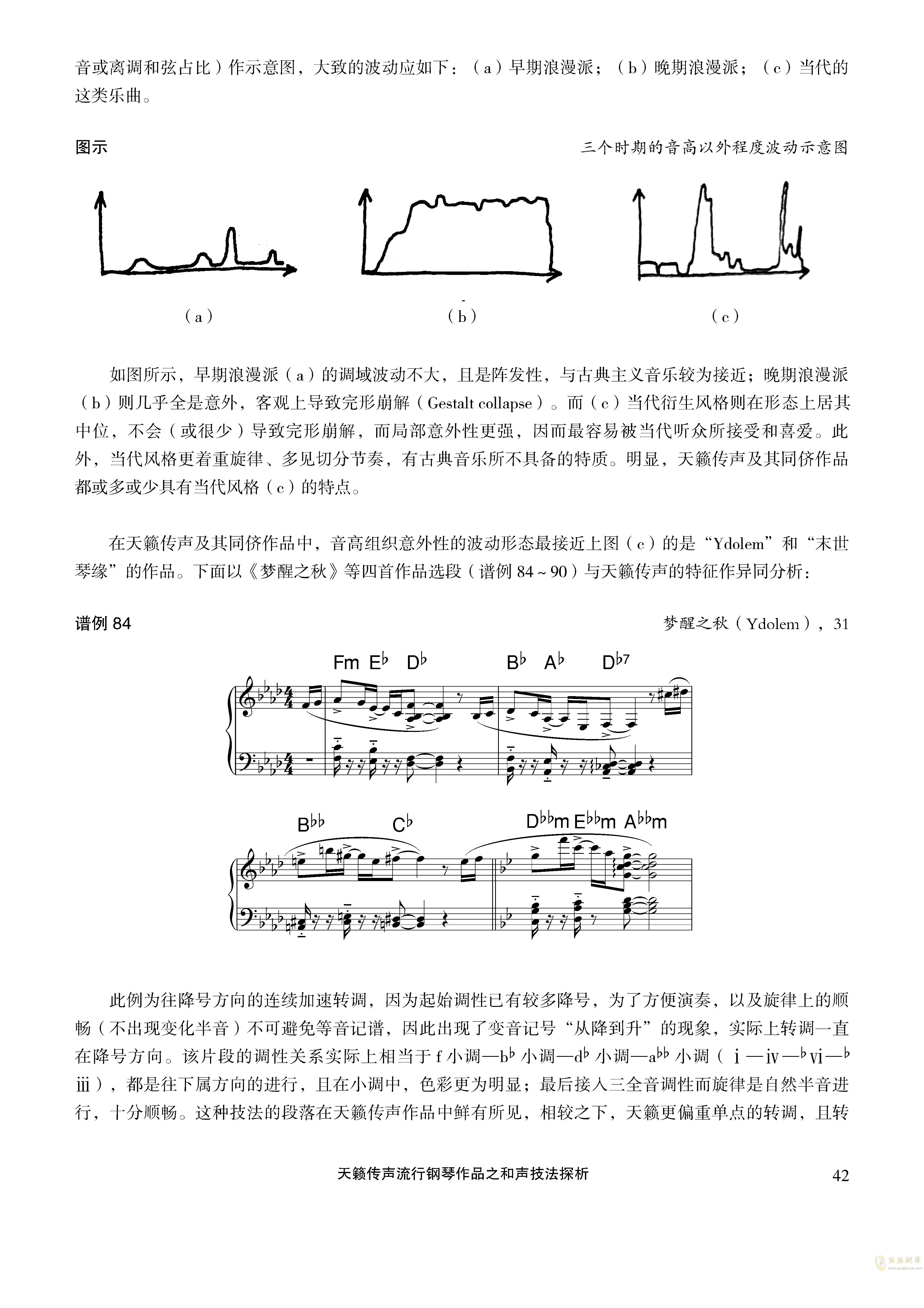 天籁传声和声技法探析钢琴谱 第42页