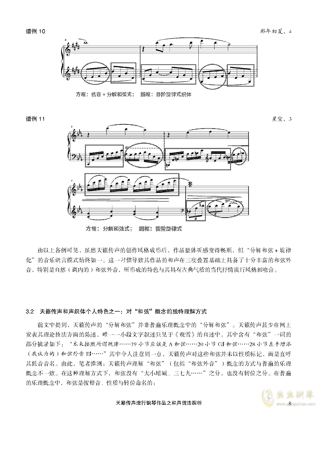 天籁传声和声技法探析钢琴谱 第8页