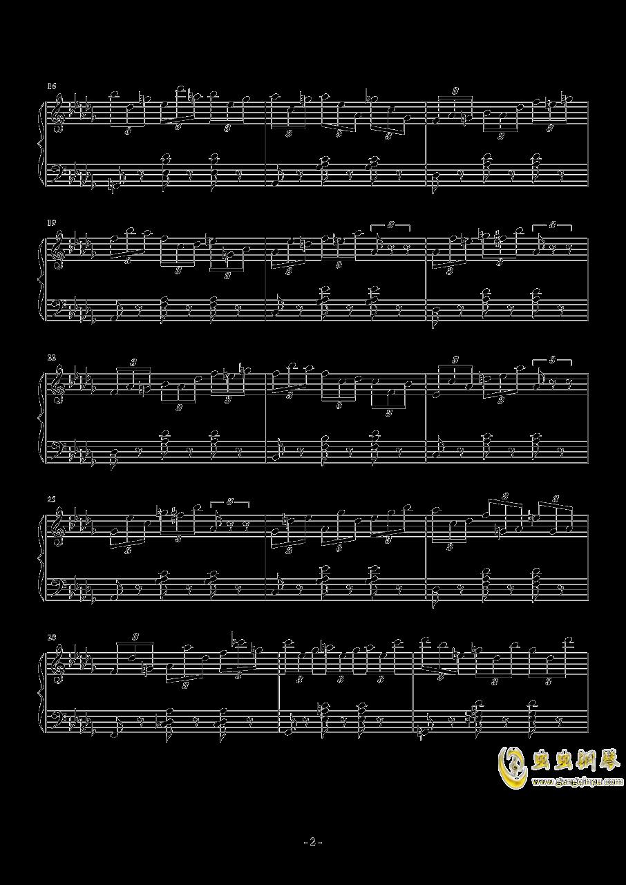 练习曲No.1 Op.6 降D大调练习曲钢琴谱 第2页