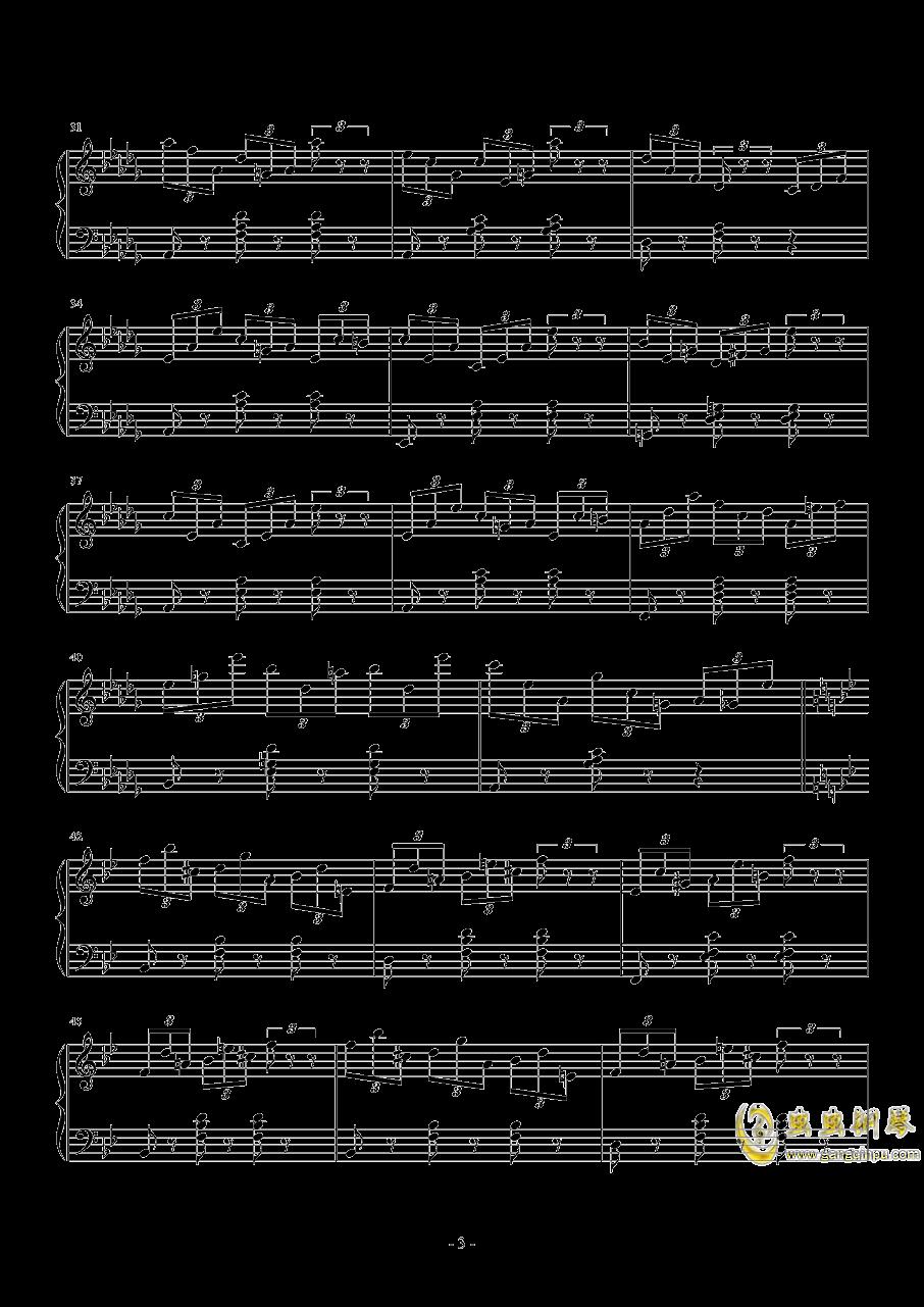 练习曲No.1 Op.6 降D大调练习曲钢琴谱 第3页
