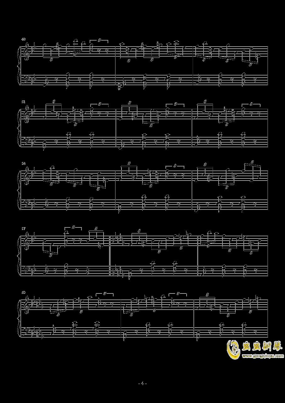 练习曲No.1 Op.6 降D大调练习曲钢琴谱 第4页