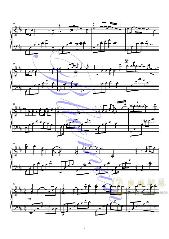 我愿意钢琴谱 第2页