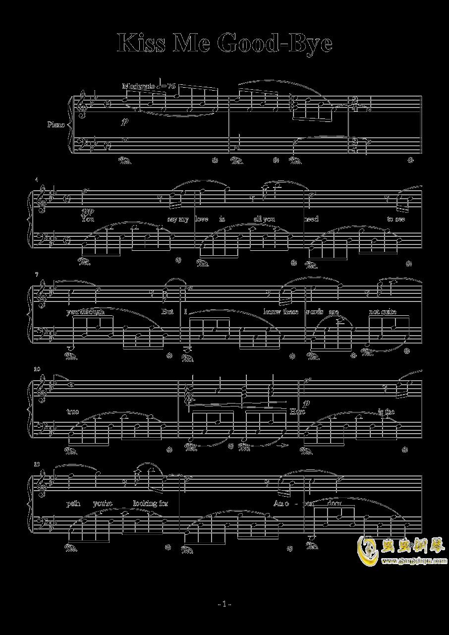 Kiss Me Good-Bye by Susan Calloway钢琴谱 第1页