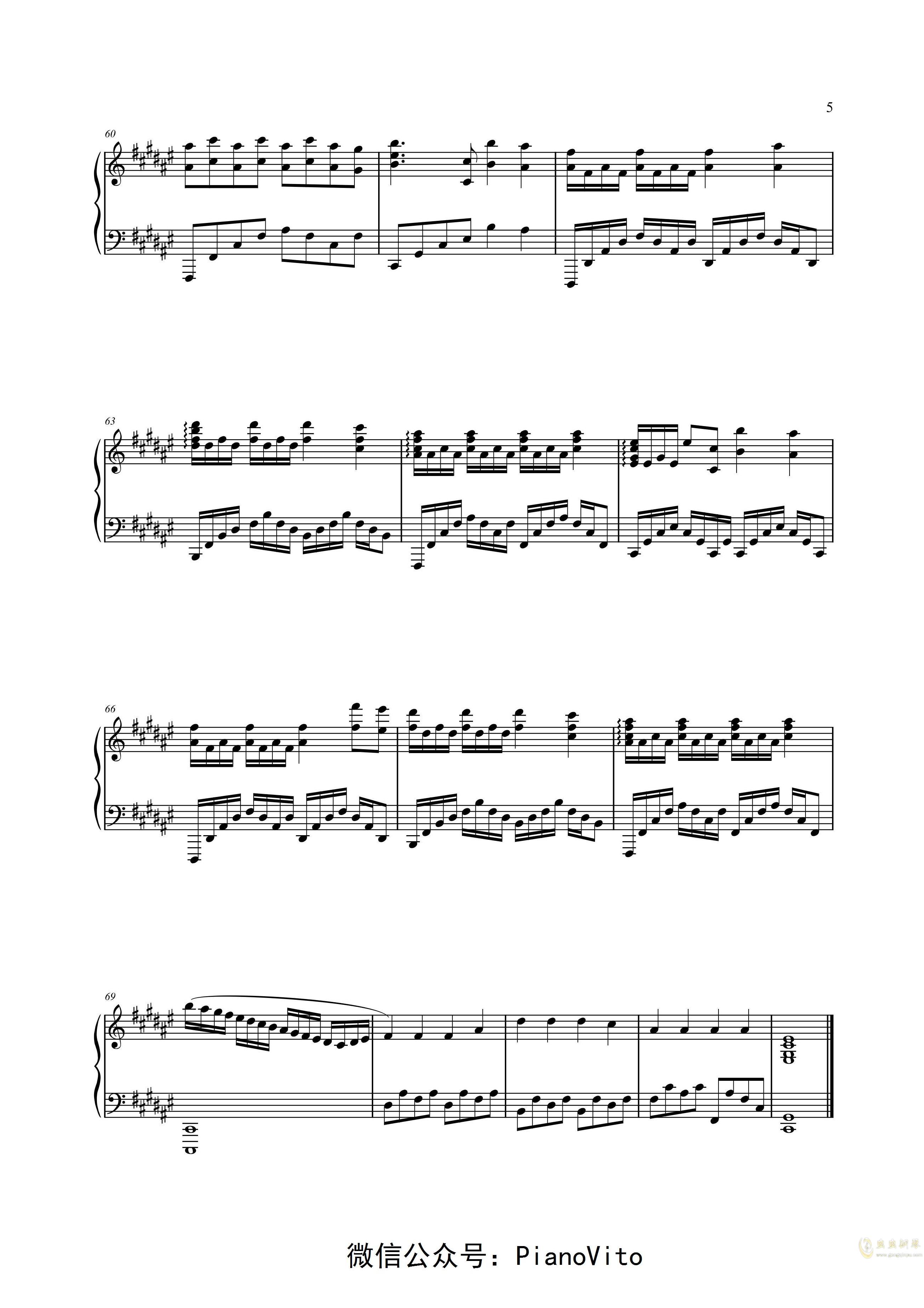 Faded ― Alan Walker钢琴谱 第5页