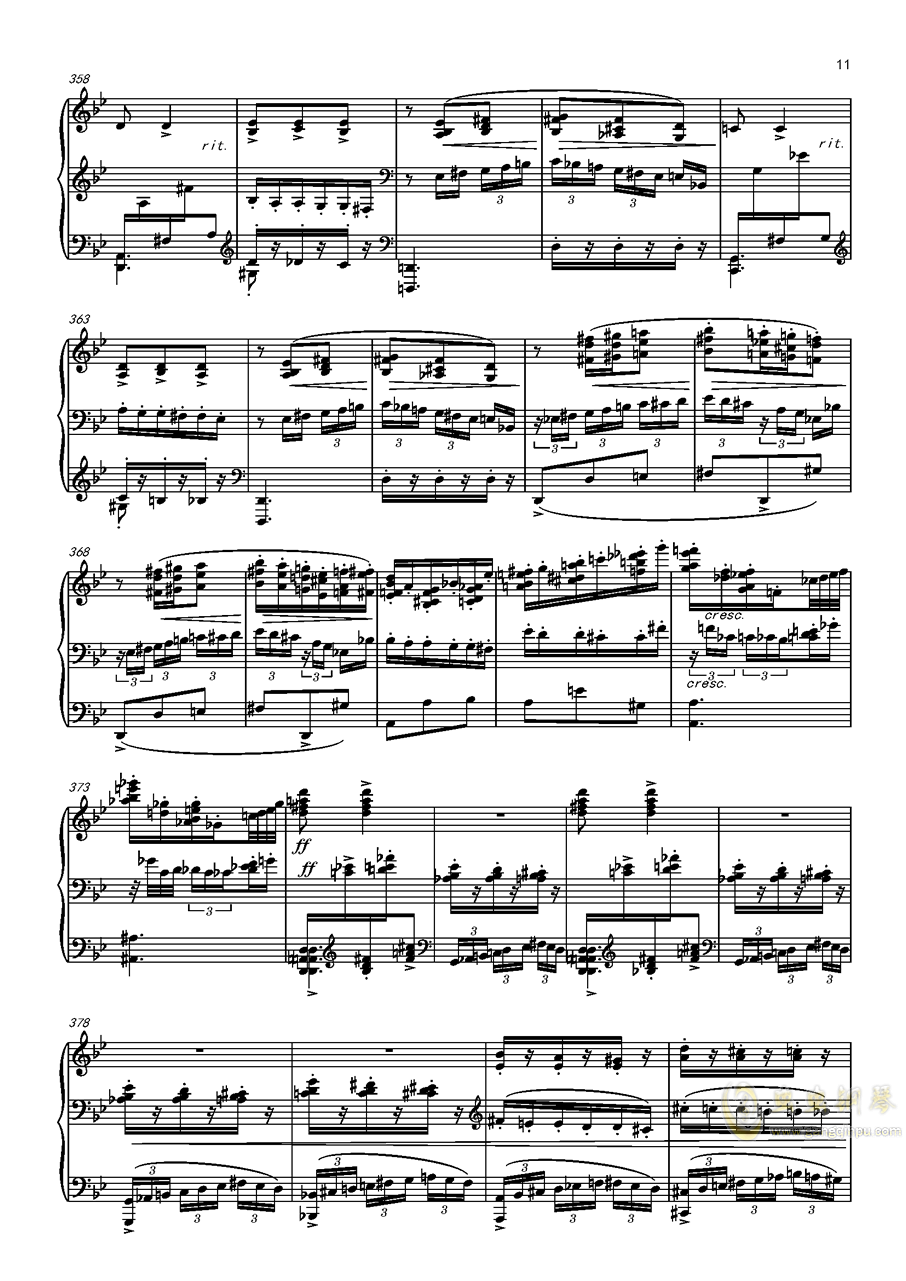 阿尔贝尼兹主题狂想曲钢琴谱 第11页