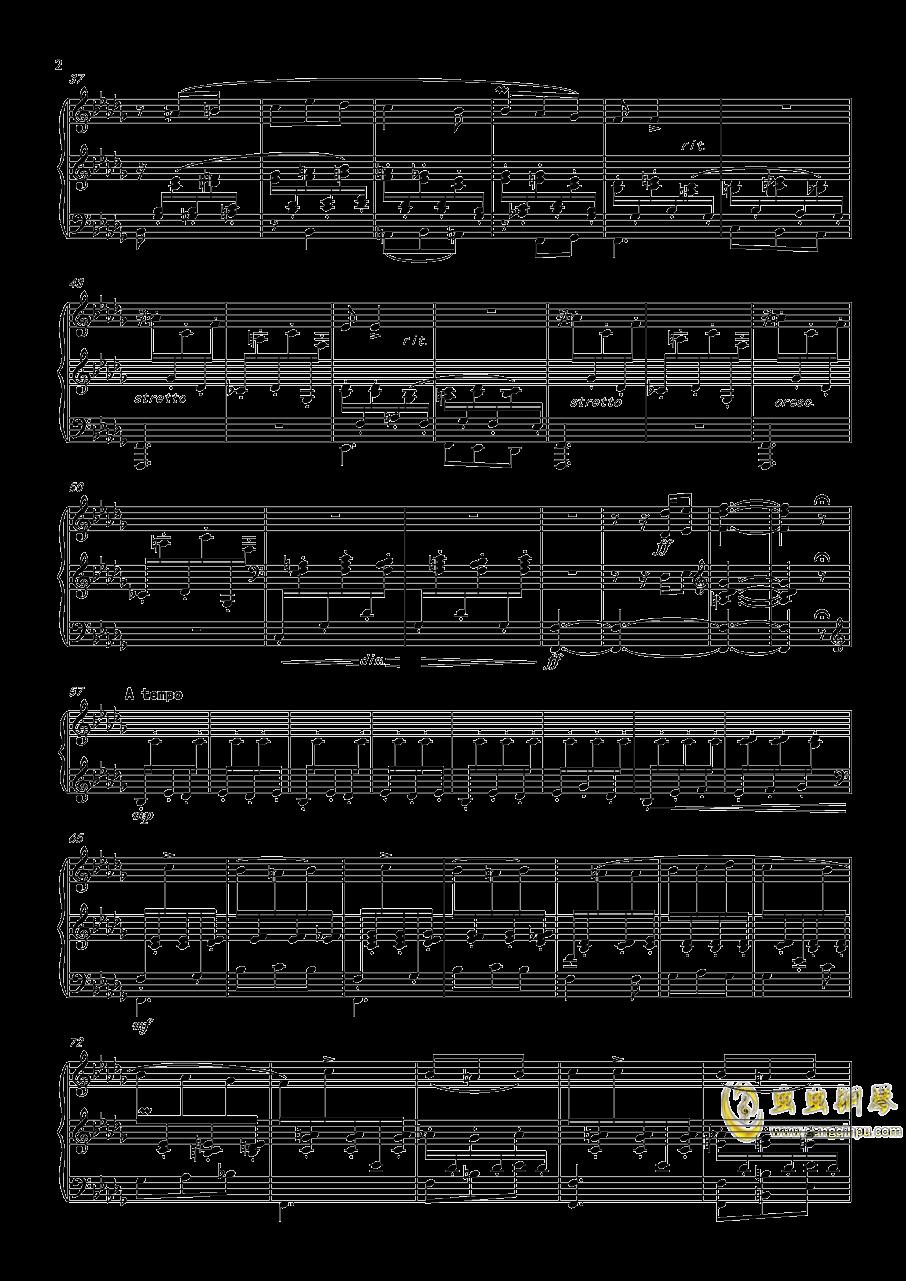 阿尔贝尼兹主题狂想曲钢琴谱 第2页