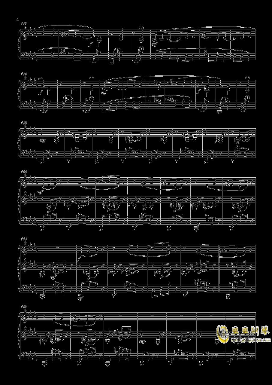 阿尔贝尼兹主题狂想曲钢琴谱 第4页