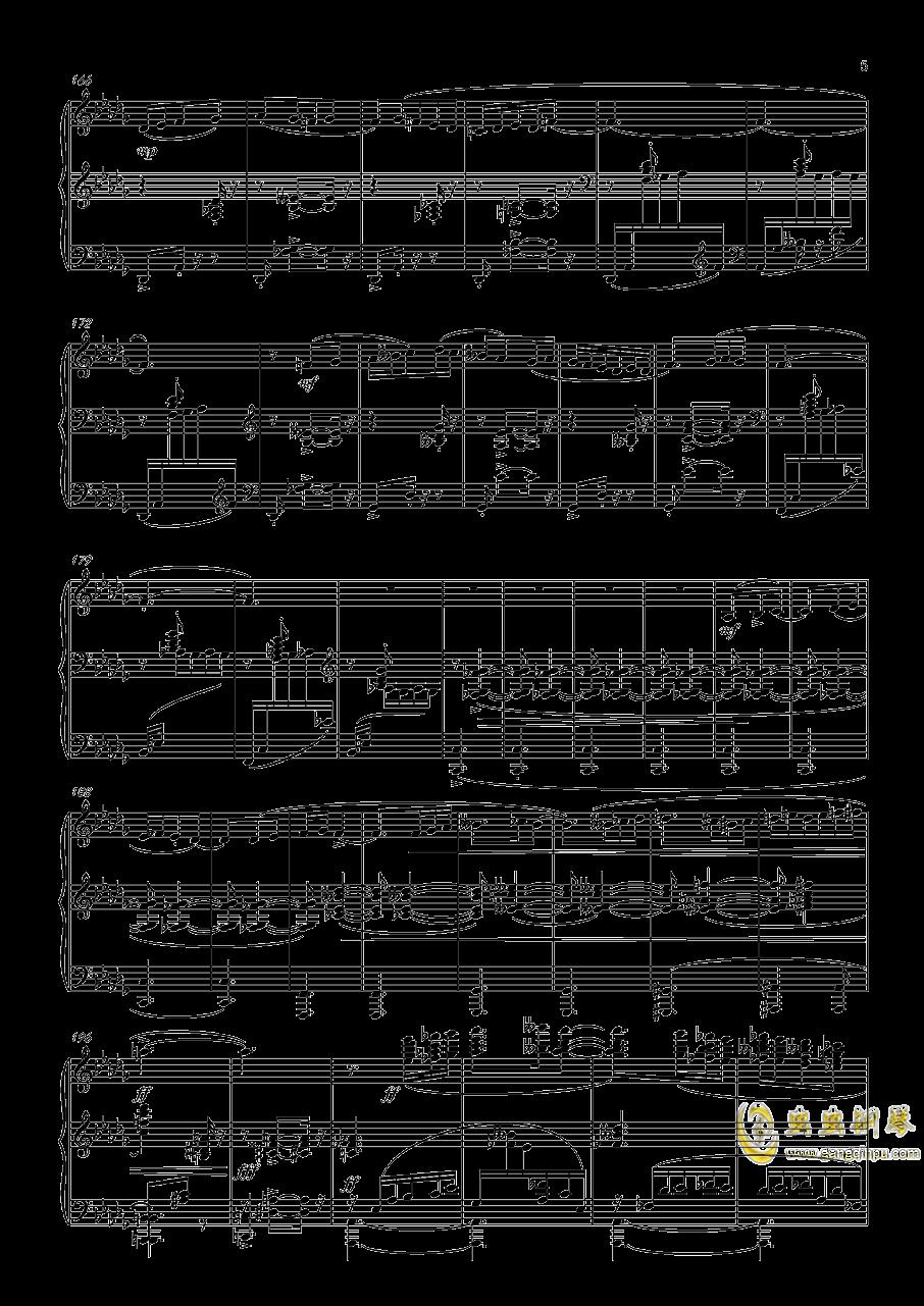 阿尔贝尼兹主题狂想曲钢琴谱 第5页