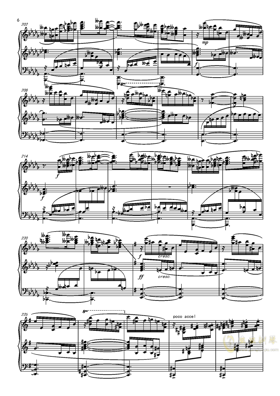 阿尔贝尼兹主题狂想曲钢琴谱 第6页