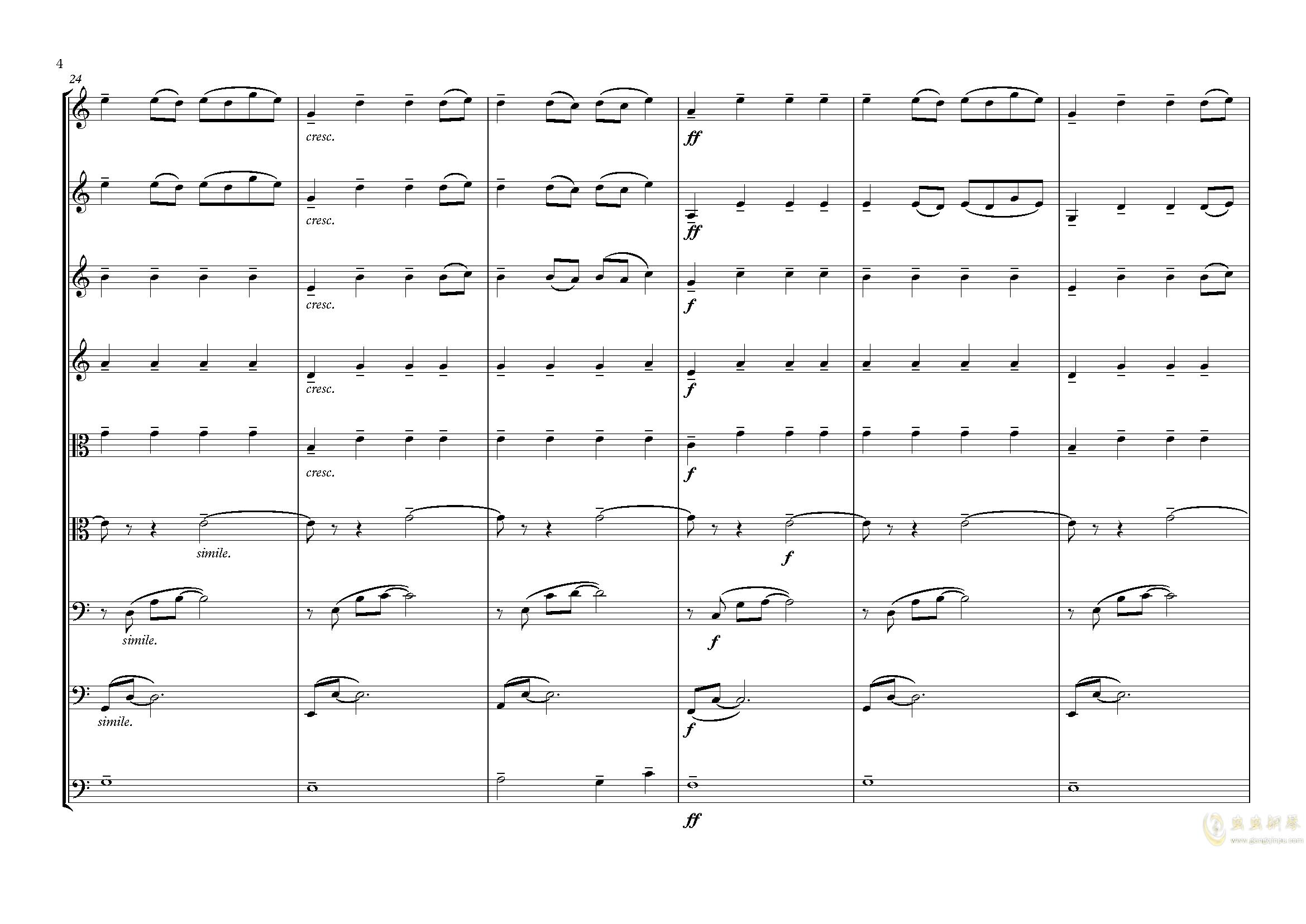 夕照-lbg钢琴谱 第4页