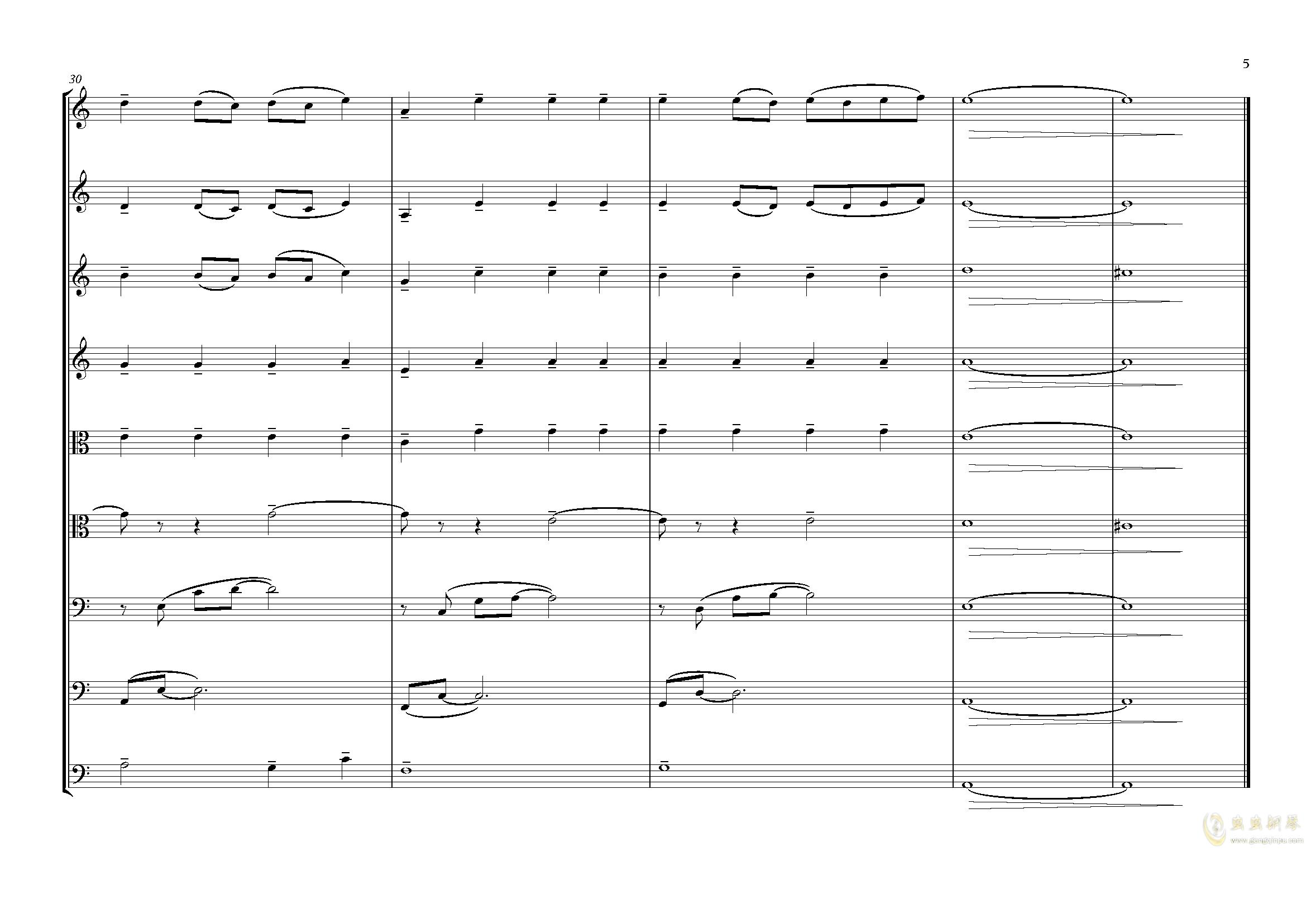 夕照-lbg钢琴谱 第5页