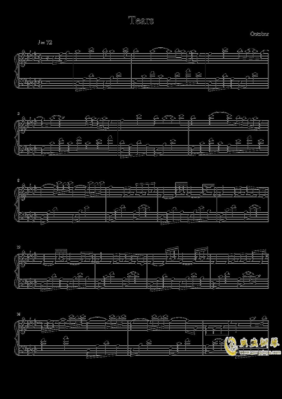 Tears钢琴谱 第1页