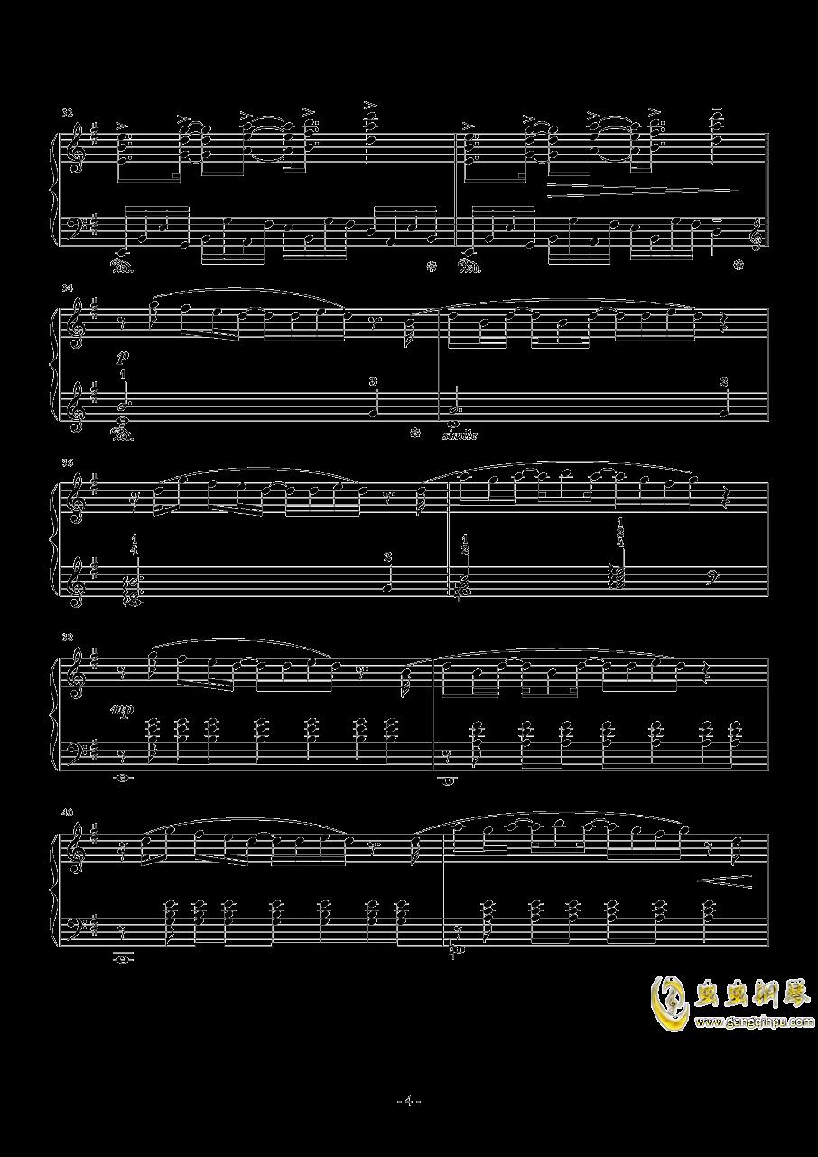 幽灵法则钢琴谱 第4页