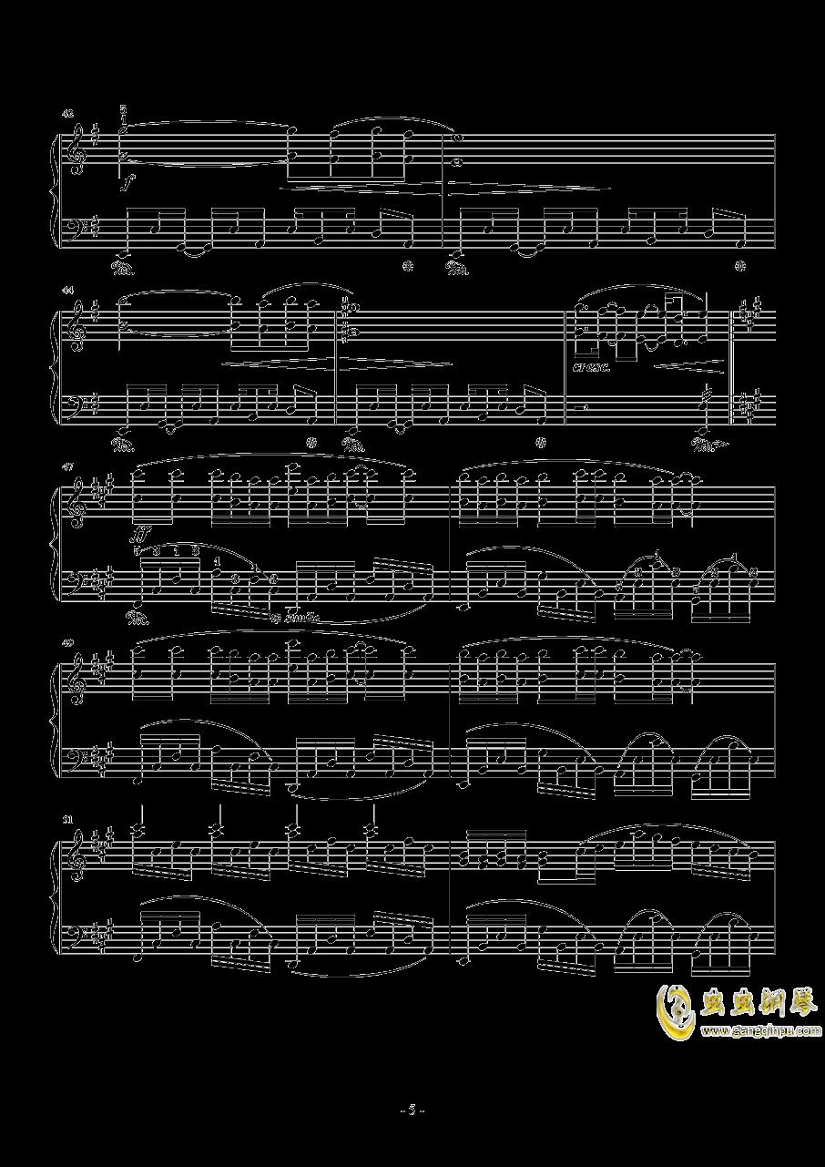 幽灵法则钢琴谱 第5页
