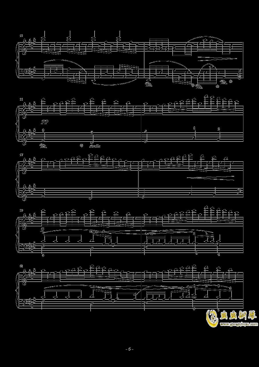 幽灵法则钢琴谱 第6页