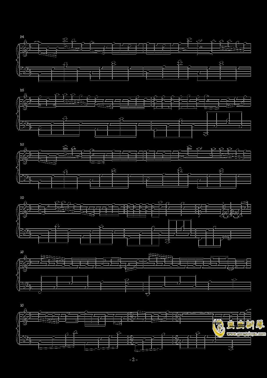失忆钢琴谱 第2页